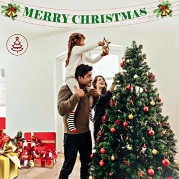 Collen Tannenbaum Künstlich Weihnachtsbaum grün Christbaum Tanne Weihnachtsdeko, mit Metall Christbaum Ständer und 150 LEDs Lichterketten für 8 Beleuchtungsmodi (1.5m) - 4