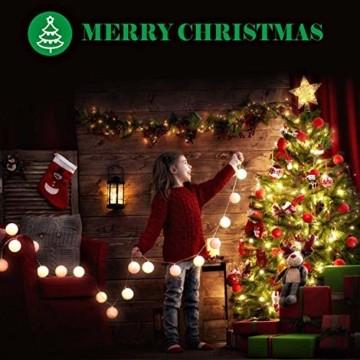 Collen Tannenbaum Künstlich Weihnachtsbaum grün Christbaum Tanne Weihnachtsdeko, mit Metall Christbaum Ständer und 150 LEDs Lichterketten für 8 Beleuchtungsmodi (1.5m) - 6