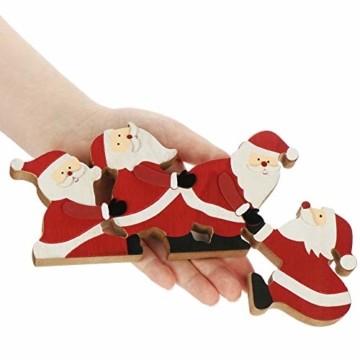 com-four® Kantenhocker Weihnachtsmann aus Holz - Kantensitzer Weihnachten - Weihnachtsdekoration - Fensterbrett-Deko - Tischdeko - Weihnachten (Weihnachtsmänner) - 2