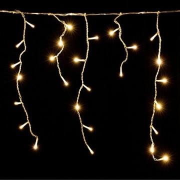 Deuba LED Lichterkette Regen 10m warmweiß 200 LED Innen Außen Lichterregen Regenlichterkette Weihnachtsdeko Weihnachten - 2