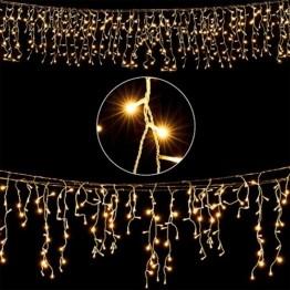 Deuba LED Lichterkette Regen 10m warmweiß 200 LED Innen Außen Lichterregen Regenlichterkette Weihnachtsdeko Weihnachten - 1