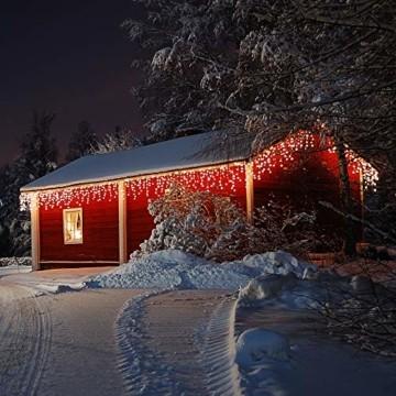 Deuba LED Lichterkette Regen 10m warmweiß 200 LED Innen Außen Lichterregen Regenlichterkette Weihnachtsdeko Weihnachten - 4