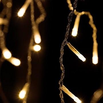 Deuba LED Lichterkette Regen 10m warmweiß 200 LED Innen Außen Lichterregen Regenlichterkette Weihnachtsdeko Weihnachten - 5