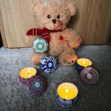 Duftkerzen Soja Set:Rose Lavendel Vanille Orange Zitrone Moschus Natürliche Kerze Brennwachs Reisezinn Duft Entspannender Innenbad Schöne Stimmung Yoga Kerzen - 3