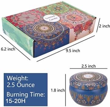 Duftkerzen Soja Set:Rose Lavendel Vanille Orange Zitrone Moschus Natürliche Kerze Brennwachs Reisezinn Duft Entspannender Innenbad Schöne Stimmung Yoga Kerzen - 6