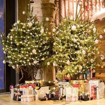 Easternstar Led USB Lichterkette Kupferdraht Strombetrieben 20m 200 LED 8 Modi Wasserdichte außenlichterkette Dekoration innen außen Garten Hochzeit Party Weihnachten Beleuchtung Warmweiß - 5