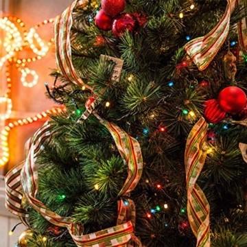 Elegear Bunt Lichterkette Außen 20M 200 LEDs Lichterkette Außen 8 Modi Weihnachtsbeleuchtung für Innen Außen IP44 Außenlichterkette für Weihnachten Deko Geburtstag Feiertag Party Hotel Garten - 4