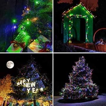 Elegear Bunt Lichterkette Außen 20M 200 LEDs Lichterkette Außen 8 Modi Weihnachtsbeleuchtung für Innen Außen IP44 Außenlichterkette für Weihnachten Deko Geburtstag Feiertag Party Hotel Garten - 6