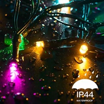 Elegear Bunt Lichterkette Außen 20M 200 LEDs Lichterkette Außen 8 Modi Weihnachtsbeleuchtung für Innen Außen IP44 Außenlichterkette für Weihnachten Deko Geburtstag Feiertag Party Hotel Garten - 7