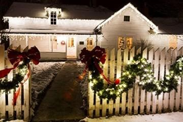 F-H-S International LED Girlande mit Lichterkette Grün 2,7m/5m/8m/10m/15m/20m Tannengirlande Warmweiß, Länge:20.25 m - 7