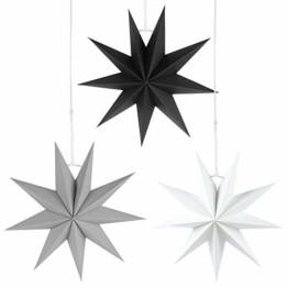 Faltstern Weihnachten, 9 Zacken Stern zum Aufhängen, Papier Stern Dekoration 3er Set Faltsterne Weihnachtsstern Deko, Sterne Papier zum Weihnachtsbaum, Fenster Dekoration - 1