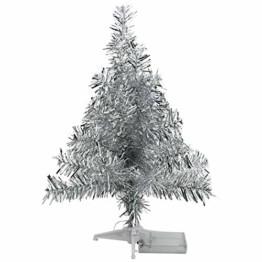 FEIGO Weihnachtsbaum Tannenbaum mit LED, Silber Mini LED Weihnachtsbaum für Weihnachten, Advent, als Stimmungslicht, Christbaum (50 cm) - 1