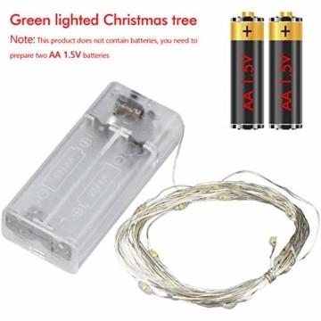 FEIGO Weihnachtsbaum Tannenbaum mit LED, Silber Mini LED Weihnachtsbaum für Weihnachten, Advent, als Stimmungslicht, Christbaum (50 cm) - 4