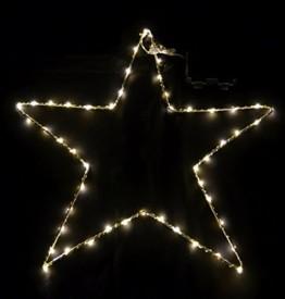 Fensterbild Stern 50 LED - warmweiß/mit Timer - Fenster Deko Silhouette beleuchtet Außen - 1
