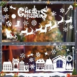 Fensterbilder Weihnachten Selbstklebend,Fensterbilder Weihnachten,Schneeflocken Weihnachtsdeko,Weihnachtsdeko,PVC Fensterdeko Selbstklebend,Fensterdeko Schneeflocken,Weihnachten Fensterdeko - 1