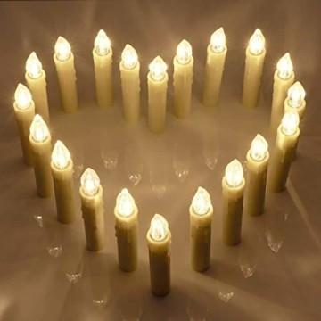 Flammenlose Kerzen, 30 LED-Kerzen Batteriebetrieben mit Fernbedienung und Timer für Hochzeit, Geburtstags, Weihnachten, Ostern, Halloween - 3