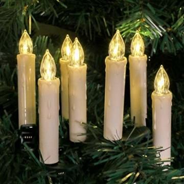 Flammenlose Kerzen, 30 LED-Kerzen Batteriebetrieben mit Fernbedienung und Timer für Hochzeit, Geburtstags, Weihnachten, Ostern, Halloween - 1