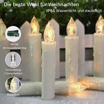 Flammenlose Kerzen, 30 LED-Kerzen Batteriebetrieben mit Fernbedienung und Timer für Hochzeit, Geburtstags, Weihnachten, Ostern, Halloween - 5