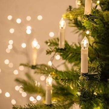 Flammenlose Kerzen, 30 LED-Kerzen Batteriebetrieben mit Fernbedienung und Timer für Hochzeit, Geburtstags, Weihnachten, Ostern, Halloween - 6