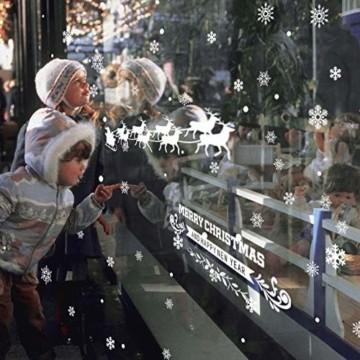 FLZONE 2 Blatt Weihnachten Fensteraufkleber,Schneeflocken Fensterdeko,Fensterbilder Weihnachten,Selbstklebend PVC Aufkleber für Weihnachten Xmas Window Display Dekorationen(Weihnachtsmann - 3