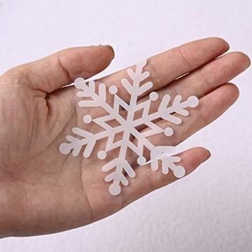FLZONE 2 Blatt Weihnachten Fensteraufkleber,Schneeflocken Fensterdeko,Fensterbilder Weihnachten,Selbstklebend PVC Aufkleber für Weihnachten Xmas Window Display Dekorationen(Weihnachtsmann - 5
