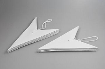 Frau WUNDERVoll® liebevolle Faltsterne grau 5 Stück: 3 Stück Durchmesser 25 cm + 2 Stück Durchmesser 40 cm 7 Zacken geschlossene Oberfläche Feste Pappe - 3