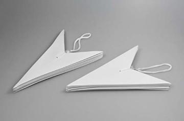 Frau WUNDERVoll® liebevolle Faltsterne weiß 5 Stück: 3 Stück Durchmesser 25 cm + 2 Stück Durchmesser 40 cm 7 Zacken geschlossene Oberfläche Feste Pappe - 3
