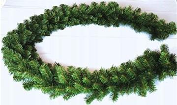Geodezja Lublin Dekorative Weihnachtsgirlande, grün, ca. 3m / 6m / 9m, dekorative Weihnachtsgirlande (3 m) - 2
