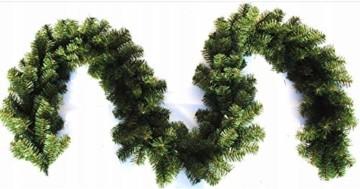 Geodezja Lublin Dekorative Weihnachtsgirlande, grün, ca. 3m / 6m / 9m, dekorative Weihnachtsgirlande (3 m) - 3