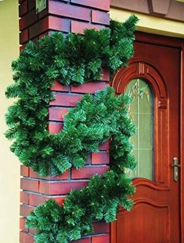 Geodezja Lublin Dekorative Weihnachtsgirlande, grün, ca. 3m / 6m / 9m, dekorative Weihnachtsgirlande (3 m) - 4