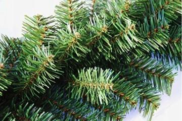 Geodezja Lublin Dekorative Weihnachtsgirlande, grün, ca. 3m / 6m / 9m, dekorative Weihnachtsgirlande (3 m) - 5