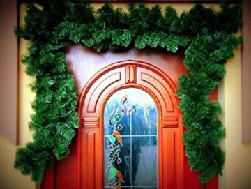 Geodezja Lublin Dekorative Weihnachtsgirlande, grün, ca. 3m / 6m / 9m, dekorative Weihnachtsgirlande (3 m) - 7