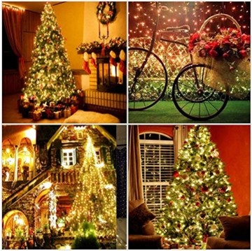 GlobaLink LED Weihnachtsbeleuchtung Außen, 50M 2000Leds Cluster Lichterkette Strombetrieben IP44 mit 8 Modi & Memory Funktion Weihnachtsdeko für innen und außen Weihnachtsbaum Party Garten- Warmweiß - 2