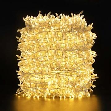 GlobaLink LED Weihnachtsbeleuchtung Außen, 50M 2000Leds Cluster Lichterkette Strombetrieben IP44 mit 8 Modi & Memory Funktion Weihnachtsdeko für innen und außen Weihnachtsbaum Party Garten- Warmweiß - 1