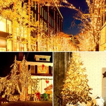GlobaLink LED Weihnachtsbeleuchtung Außen, 50M 2000Leds Cluster Lichterkette Strombetrieben IP44 mit 8 Modi & Memory Funktion Weihnachtsdeko für innen und außen Weihnachtsbaum Party Garten- Warmweiß - 5