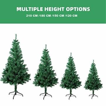 Gotoll Künstlicher Weihnachtsbaum 120 cm, Tannenbaum in grün, Christbaum mit Metallständer, schwer entflammbar - 3