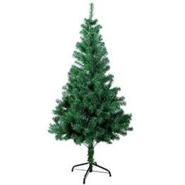 Gotoll Künstlicher Weihnachtsbaum 120 cm, Tannenbaum in grün, Christbaum mit Metallständer, schwer entflammbar - 1