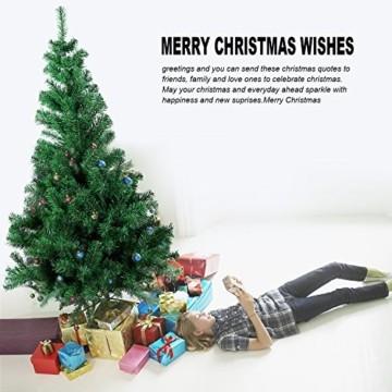 Gotoll Künstlicher Weihnachtsbaum 120 cm, Tannenbaum in grün, Christbaum mit Metallständer, schwer entflammbar - 4