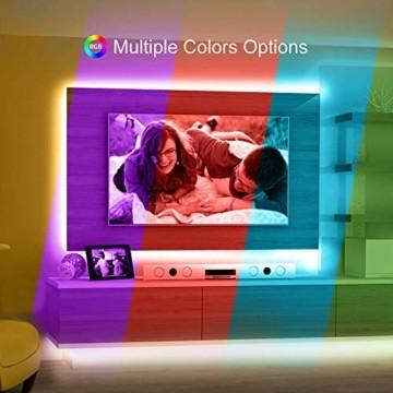 Govee LED Streifen 5m, RGB LED Strip mit Fernbedienung, farbänderbares LED Lichtband für Zuhause, Schlafzimmer, TV, Tische, Schrank, 12V - 5