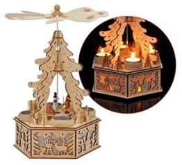 Gravidus Holz Weihnachtspyramide mit LED Beleuchtung - 1