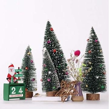 Gukasxi Künstliche Weihnachtsbäume Mini Weihnachtsbaum Künstlich Klein Weihnachtsdeko Miniatur Tannenbaum Grün Mini Christbaum Tree Klein Weihnachtsdeko Figuren Weihnachtsbaum mit Schleifen - 3