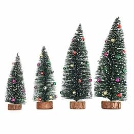 Gukasxi Künstliche Weihnachtsbäume Mini Weihnachtsbaum Künstlich Klein Weihnachtsdeko Miniatur Tannenbaum Grün Mini Christbaum Tree Klein Weihnachtsdeko Figuren Weihnachtsbaum mit Schleifen - 1