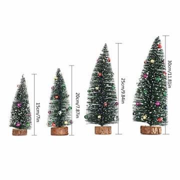 Gukasxi Künstliche Weihnachtsbäume Mini Weihnachtsbaum Künstlich Klein Weihnachtsdeko Miniatur Tannenbaum Grün Mini Christbaum Tree Klein Weihnachtsdeko Figuren Weihnachtsbaum mit Schleifen - 4