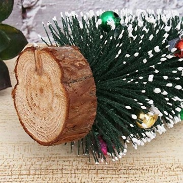 Gukasxi Künstliche Weihnachtsbäume Mini Weihnachtsbaum Künstlich Klein Weihnachtsdeko Miniatur Tannenbaum Grün Mini Christbaum Tree Klein Weihnachtsdeko Figuren Weihnachtsbaum mit Schleifen - 6