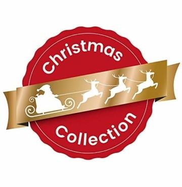 HEITMANN DECO Tannengirlande für innen - Weihnachtsgirlande Dekogirlande Girlande Weihnachten - natürliche Dekoration - Grün, Weiß, Silber - 5