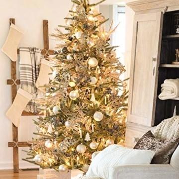 Hengda 40er LED Weihnachtskerzen Kabellos Warmweiß, mit Fernbedienung Timer und Batterien, Christbaumkerzen Kabellos, LED Kerzen Dimmbar, IP44, für Weihnachtsbaum, Weihnachtsdeko - 5