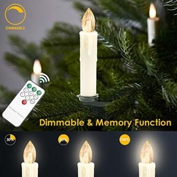 Hengda 40er LED Weihnachtskerzen Kabellos, Warmweiß & RGB Christbaumkerzen Kabellos, mit Fernbedienung Timer und Batterien, LED Kerzen Dimmbar, für Weihnachtsbaum, Weihnachten, Weihnachtsdeko, IP44 - 7