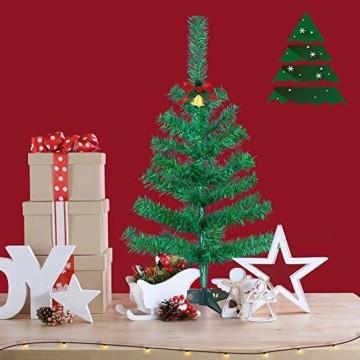HENGMEI PVC Weihnachtsbaum Tannenbaum Christbaum Grün künstlicher mit ständer ca. 80 Spitzen Lena Weihnachtsdeko (Grün PVC, 90cm) - 3