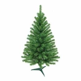 HENGMEI PVC Weihnachtsbaum Tannenbaum Christbaum Grün künstlicher mit ständer ca. 80 Spitzen Lena Weihnachtsdeko (Grün PVC, 90cm) - 1