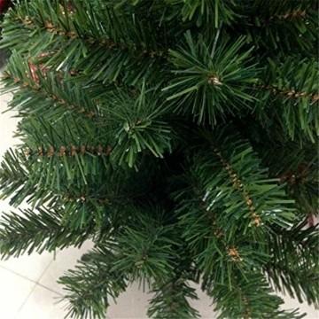 HENGMEI PVC Weihnachtsbaum Tannenbaum Christbaum Grün künstlicher mit ständer ca. 80 Spitzen Lena Weihnachtsdeko (Grün PVC, 90cm) - 6